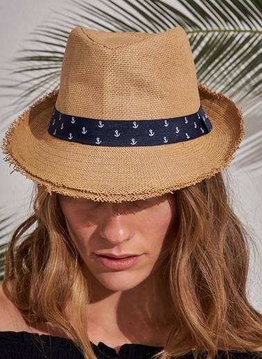 Morhipo Beach Çapa Detaylı Şapka Camel